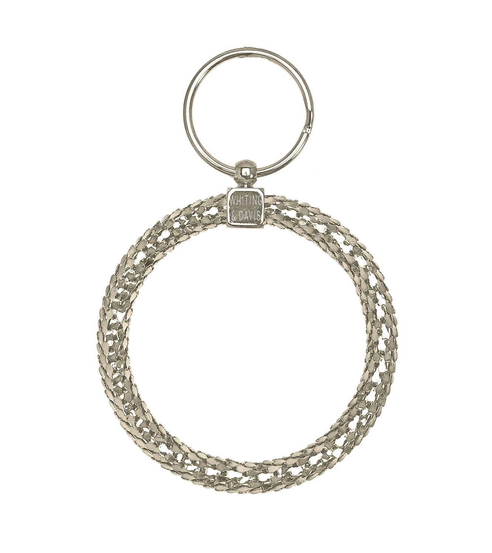 Whiting & Davis Oversized Circle Jailer Key Ring