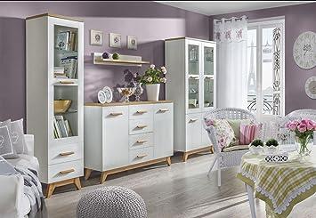 Wohnzimmer Komplett   Set G Panduros, 4 Teilig, Farbe: Kiefer Weiß /