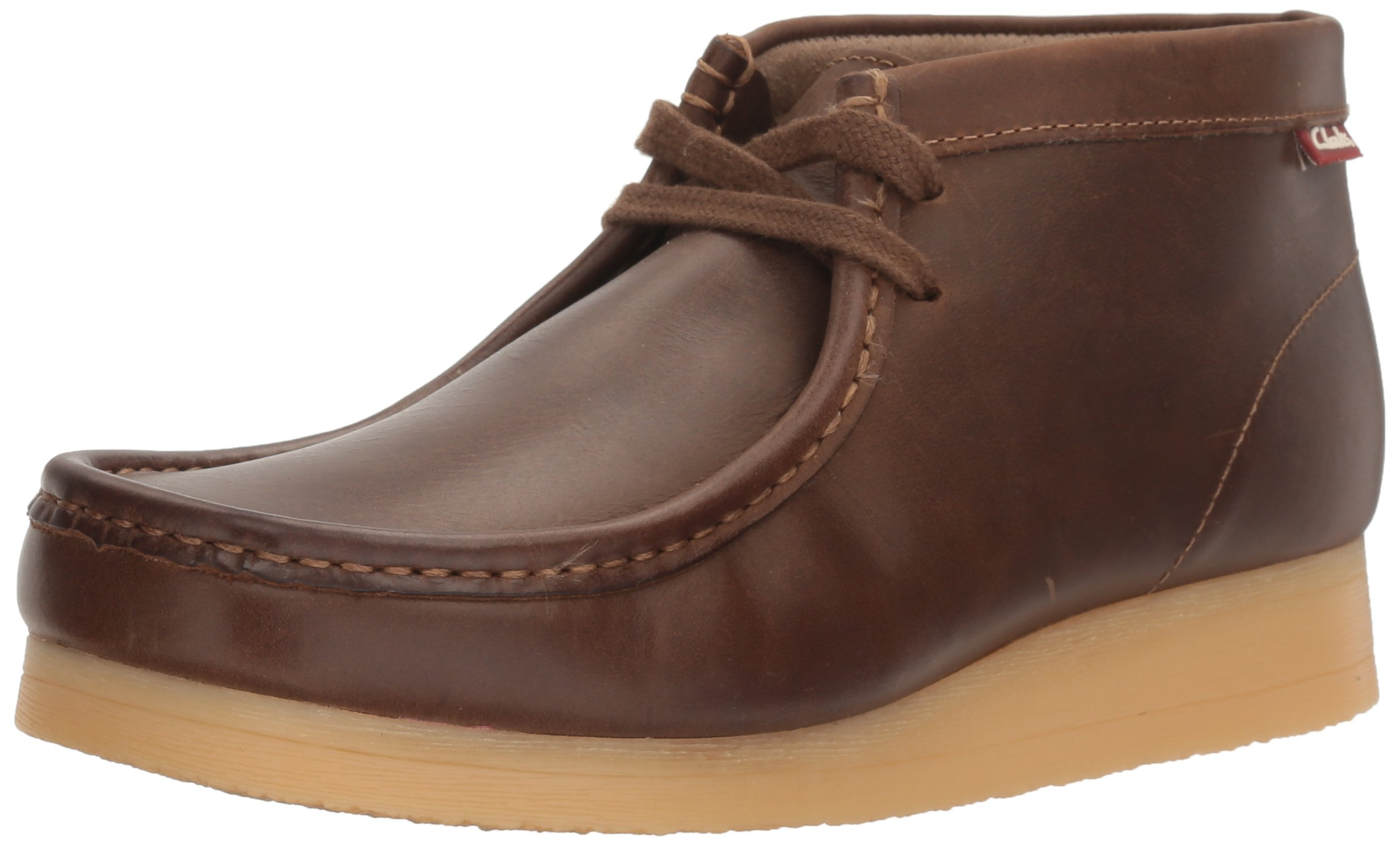 CLARKS Men's Stinson Hi Chukka Boot,Beeswax Leather,8 M US