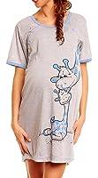 Happy Mama. Donna. Prémaman camicia da notte gravidanza e allattamento. 366p