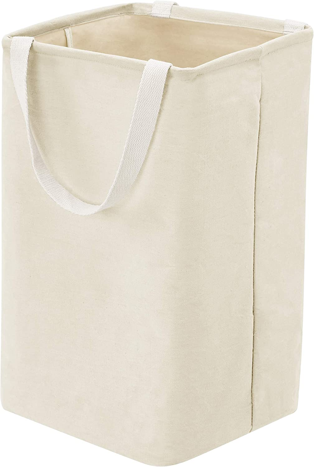 AmazonBasics Fabric Storage Bin Basket - Tall Cube, Natural