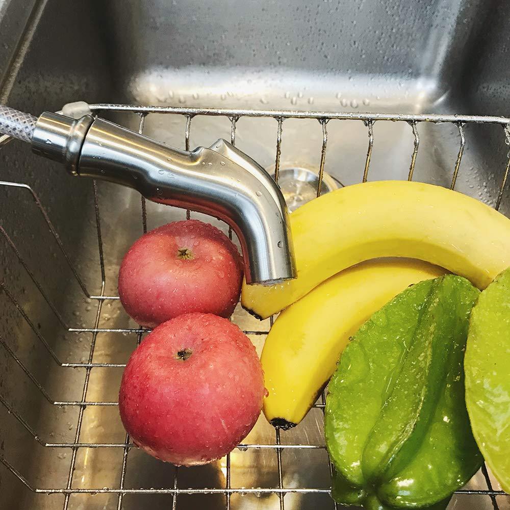 Kitchen Side Sprayer Brushed Nickel,Kitchen Sink Sprayer Head Replacement,Kitchen Sink Faucet Sprayer Hose,Kitchen Sprayer Head Replacement,Kitchen Sink Pull Out Spray head,Kitchen Sink Spray Hose by Houtingmaan (Image #7)