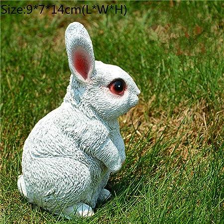 BRTTHYE 1 Unids Pequeñas Figuras de Resina Conejo Conejo Decoración del Jardín Al Aire Libre de Hadas Conejo Familia Animal Figuras Decoración del Hogar: Amazon.es: Hogar