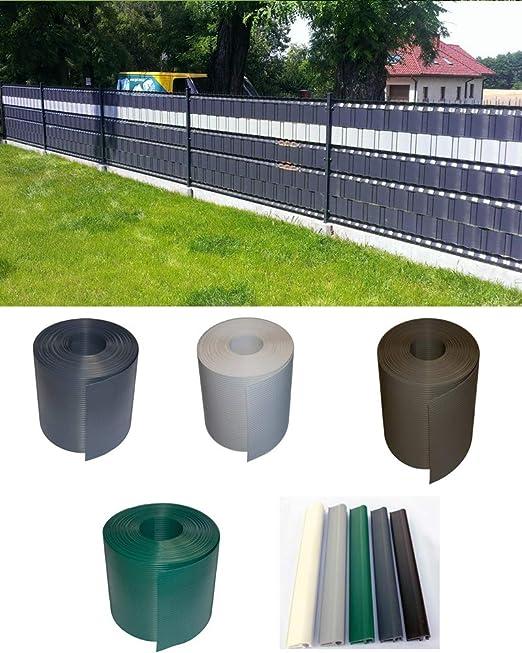 Sichtschutzstreifen aus Polypropylen für Doppelstabmatten Gartenzaun Zaunfolie