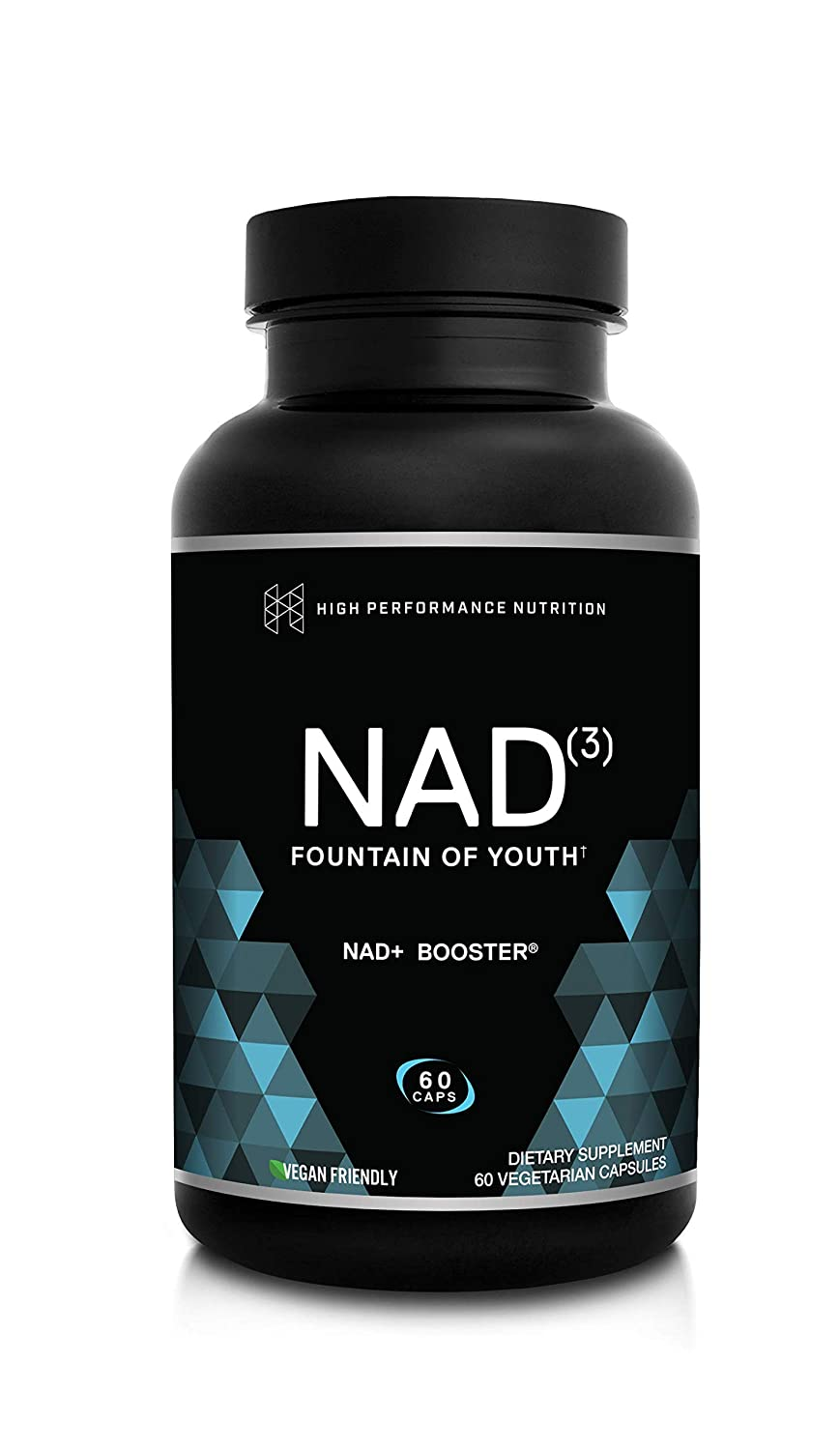 HPN NAD Booster Nicotinamide Riboside Alternative NAD3 for Men Women Anti Aging NRF2 Activator, Superior to NADH Natural Energy Supplement for Longevity Cellular Health, 60 Veggie Pills