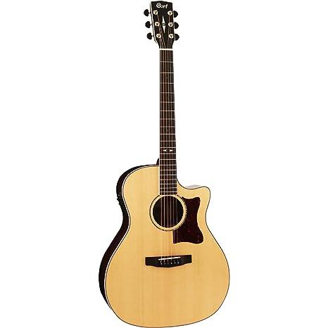 Cort GA5F-PF Natural Glossy - Guitarra electroacústica: Amazon.es ...