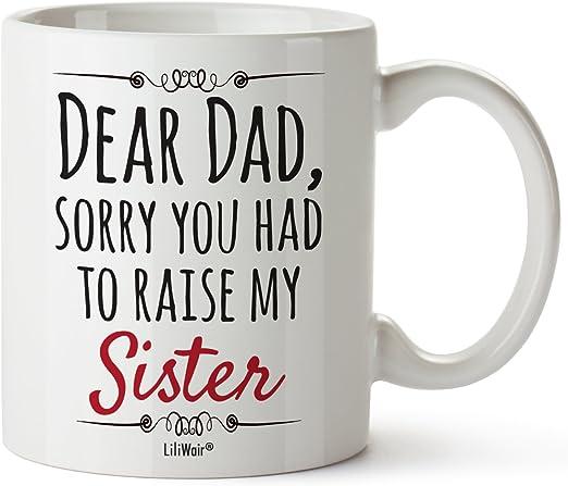 Amazon.com: Día del padre regalo de hija primera taza, Cool ...