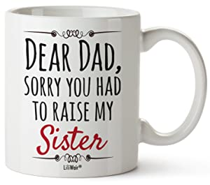 Fathers Day Gifts, Gift For Dad From Daughter Son, Dad Chritmas Birthday Gift Coffee Mug, Best Cool Happy Funny First Mugs For Father, Daddy Stepdad Stepfather Bonus Step Dad's Presents Cup From Kids