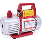 Kozyvacu TA350 Single-Stage Rotary Vane Vacuum Pump for HVAC/Auto AC Refrigerant Recharging, Wine Degassing, Milking…