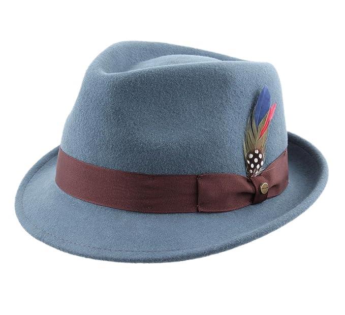 9e56966ff Stetson - Trilby Hat Wool Felt Water Repellent Men Richmond: Amazon ...