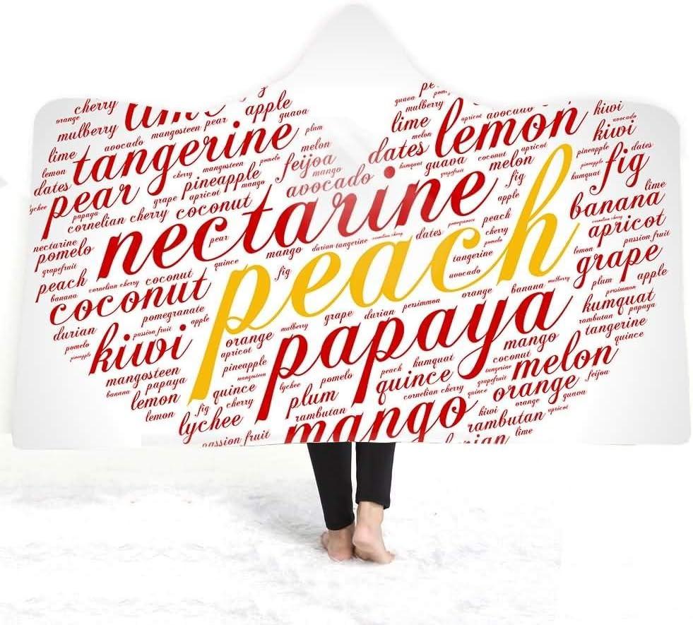 YiWu Retro Letras Impresas con Capucha Playa baño Toalla Manta ...
