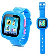 Kids Smart Watch,Educational Game Watch for Kids Girls Boys, Learning Toys 3-10 Years Old Holiday Birthday Gifts (Blue)