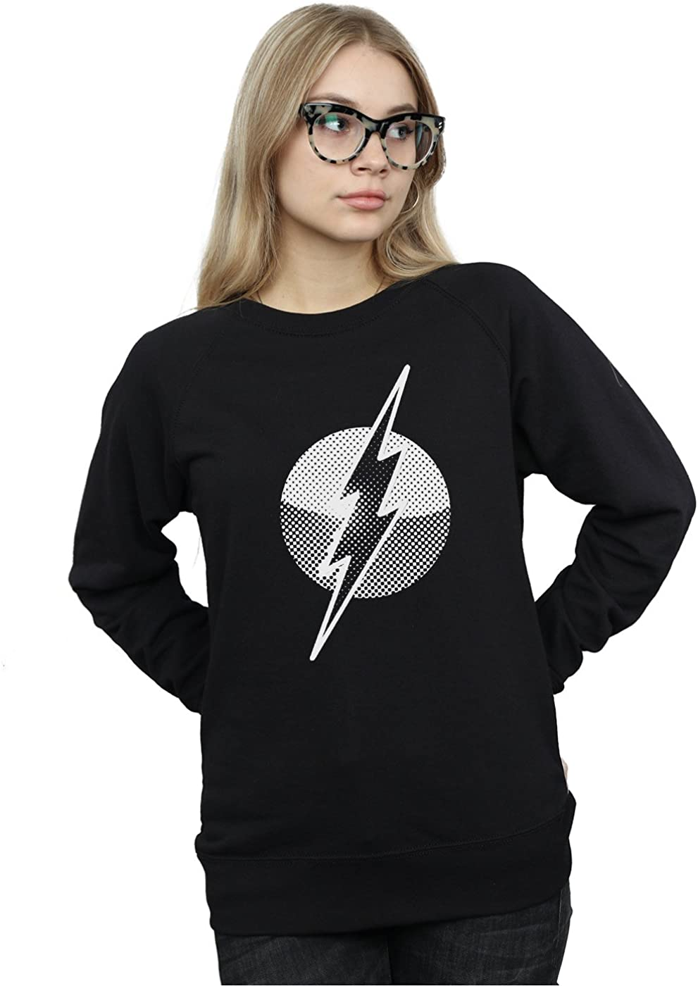 DC Comics Mujer Flash Spot Logo Camisa De Entrenamiento Medium Negro