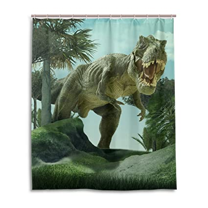 My Daily Funny 3D Dinosaur Shower Curtain 60 X 72 Inch, Mildew Resistant U0026  Waterproof