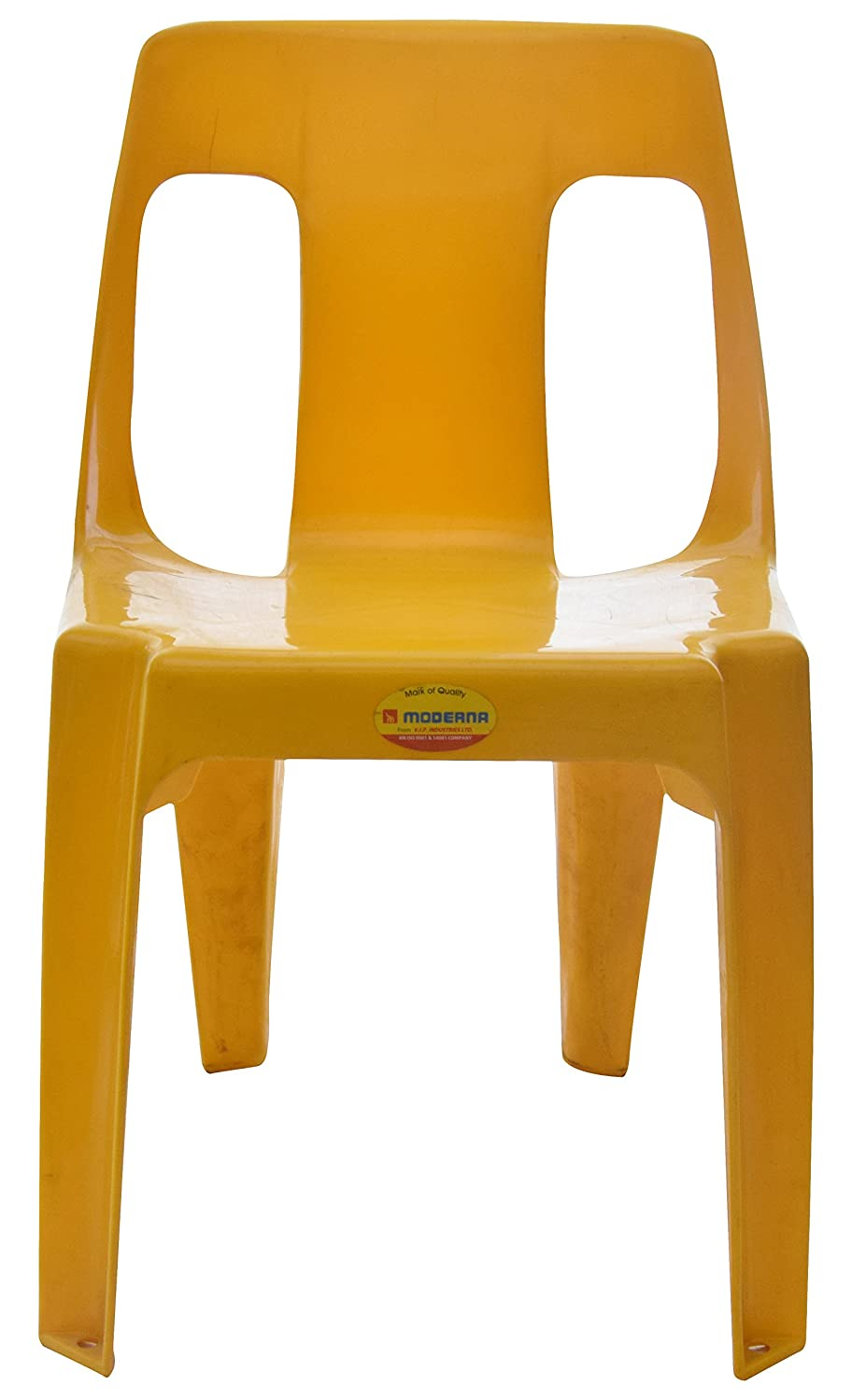 Moderna armless chair yellow amazon in home kitchen