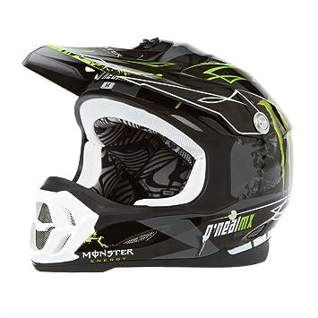 O Neal 712 Monster Motocross Enduro casco para bicicleta de montaña negro/verde 2014