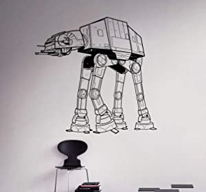 Place at at Walker Wall Vinyl Decal Star Wars Wall Sticker Home Interior - Living Room Bedroom Decor - Removable Custom Stickers Made in USA - 38x70 Inch
