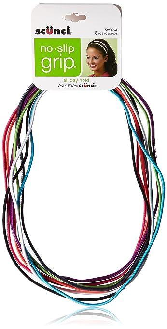 1bf983061e70 Amazon.com   Scunci No-slip Grip Flat Bright Headwraps   Headbands For  Teens   Beauty