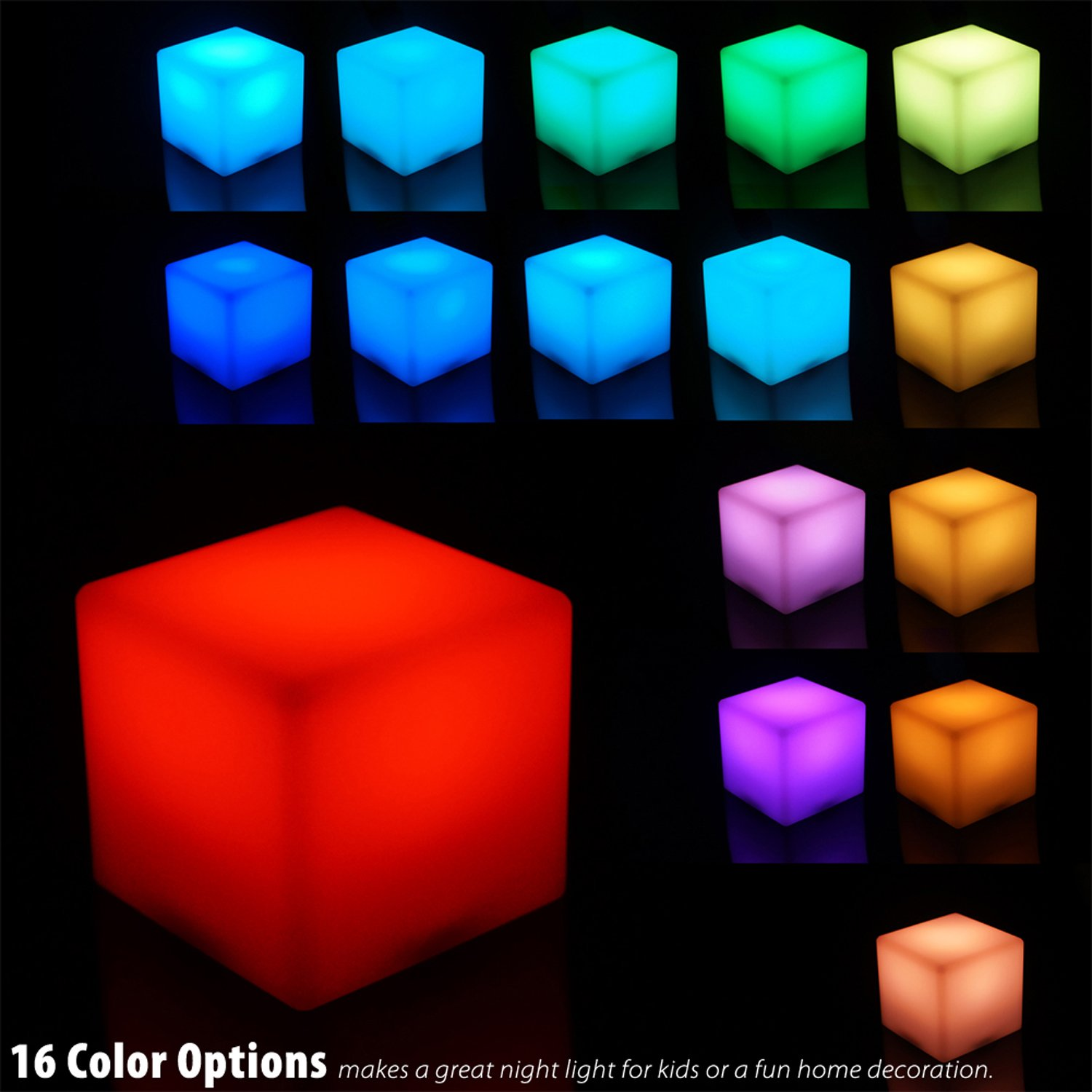 Galleon Mr Go 4 Inch Dimmable Led Night Light Mood Lamp For Kids And Adults 16 Rgb Colors
