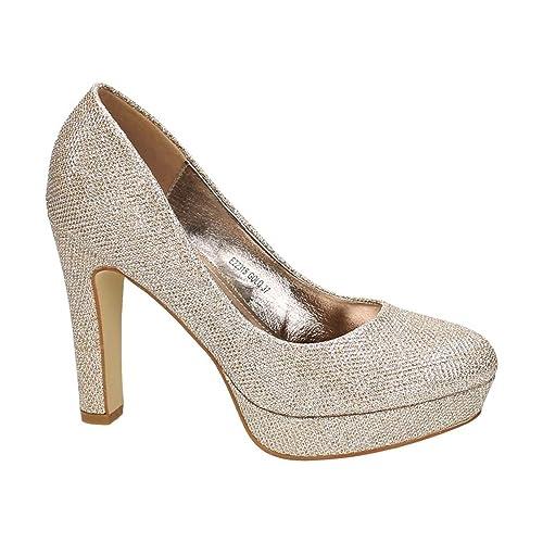 Details zu Schuhe Tamaris 38 beige Party Abiball Highheels wie neu