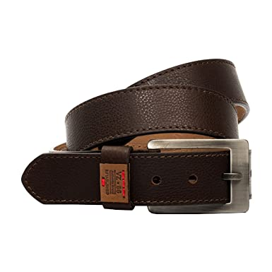 VÉLEZ 09695 Genuine Leather Belts For Men | Cinturones Cuero De Hombre Coffee 32