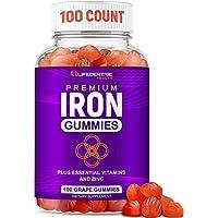 Iron Gummies for Adults & Kids | Biotin Zinc Vitamin B Folic Acid Vitamin Gummies...
