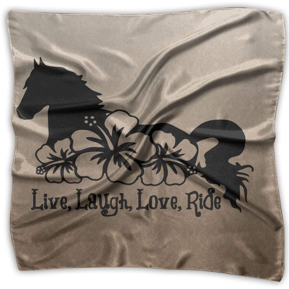 Live Laugh Love Ride Unisex Silky Scarf Head Wraps Bandana Wrap Scarf