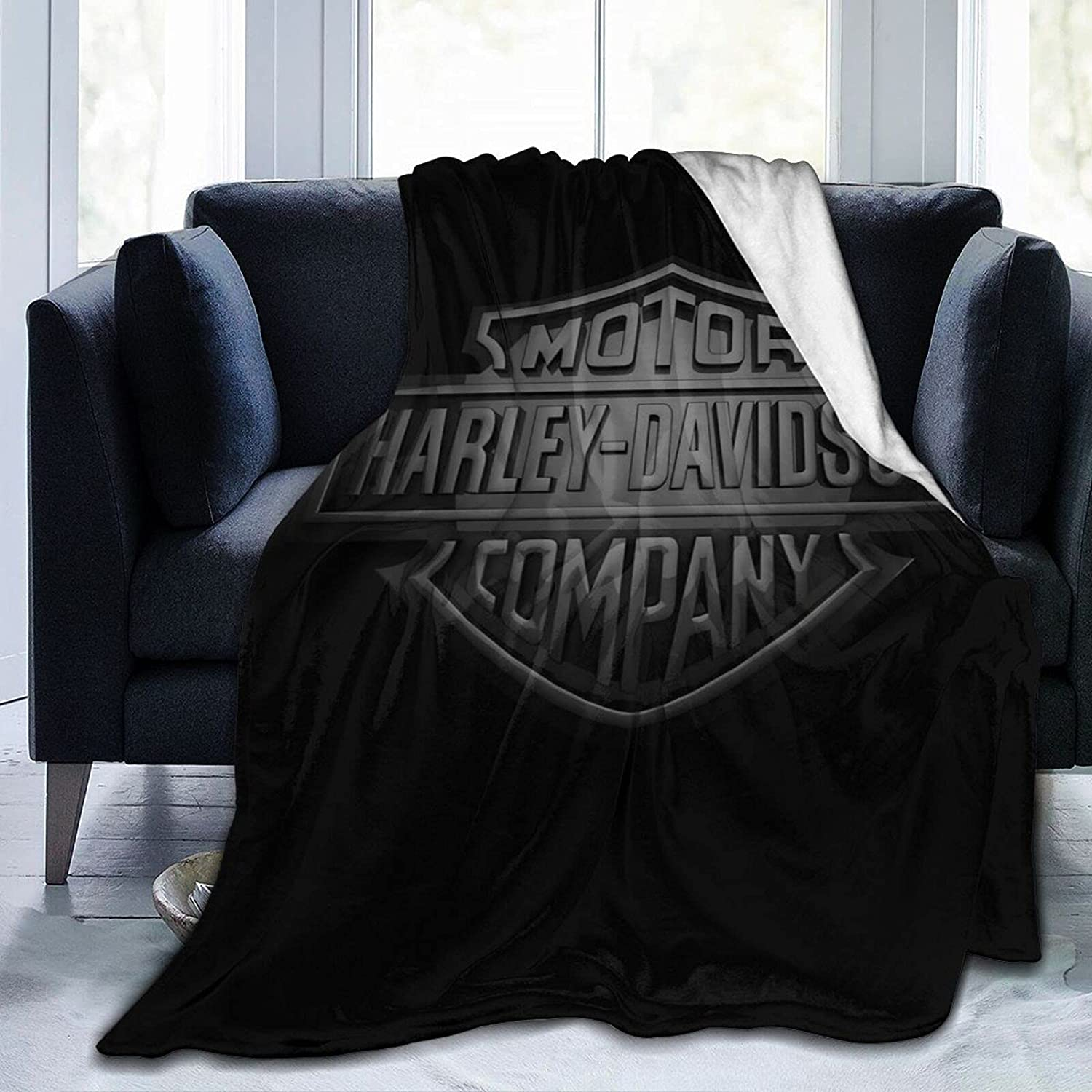 Harley Davidson Ultra-Soft Micro Fleece Blanket,Home Decor Warm Throw Blanket for Couch Bed(50