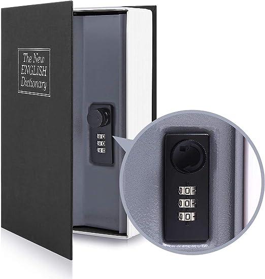 Ohuhu Caja de seguridad en forma de libro - Cerradura con ...