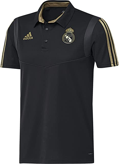 adidas Real Madrid Camiseta Polo, Unisex Adulto, Negro (Black/Dark ...