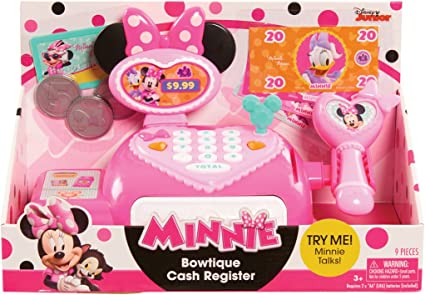 Happy auxiliares del Minnie Bowtique caja registradora , color ...