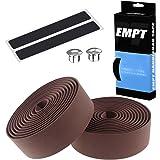 EMPT(イーエムピーティー) EVA ロード用 バーテープ ES-JHT020 クッション製に優れたEVA製バーテープ ロード ピスト ドロップハンド対応 ※エンドキャップ、エンドテープ付属 茶(ブラウン)