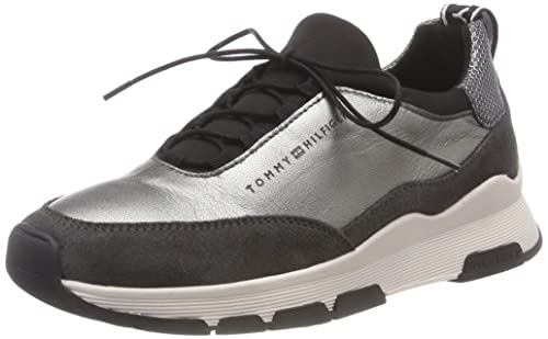 Tommy Hilfiger Cool Leather Debossed Sneaker, Zapatillas para Mujer: Amazon.es: Zapatos y complementos