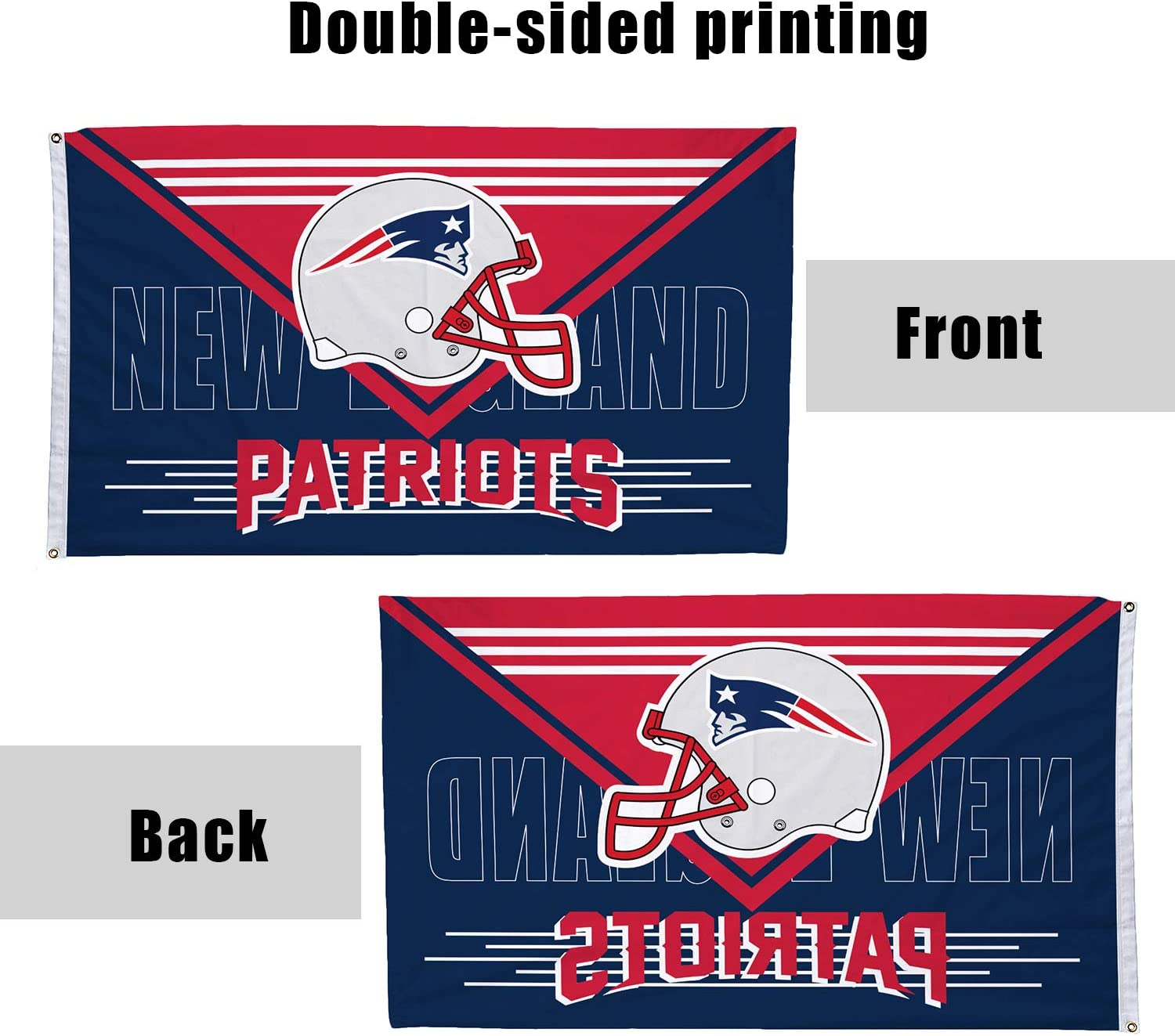 ZEWLLY XFL Teams 3 X 5 Double Sided Fans Banner Champion Flag with 2 Grommets Extra Durability