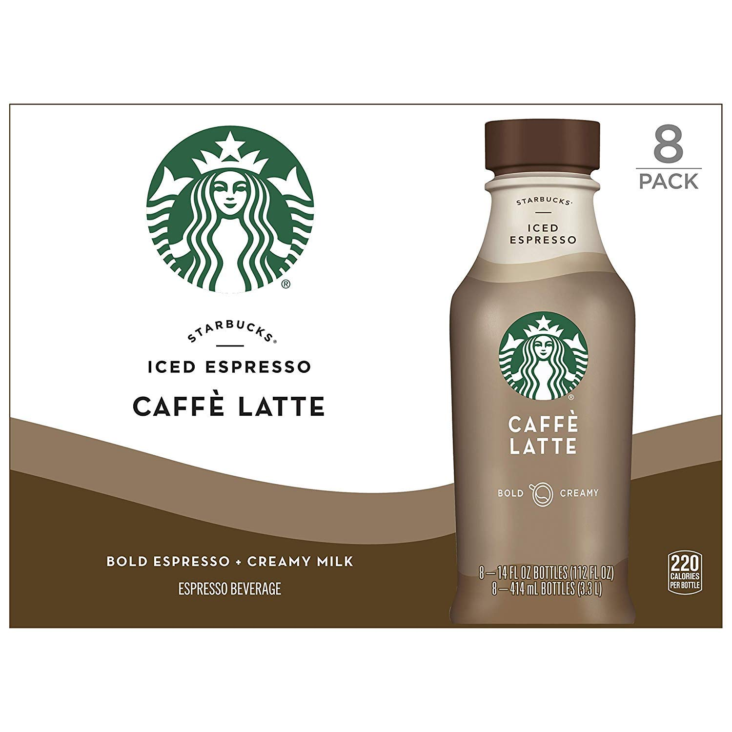 Starbucks Caffe Latte 14 Fl Oz Bottles 8 Pack Amazon Com Grocery Gourmet Food