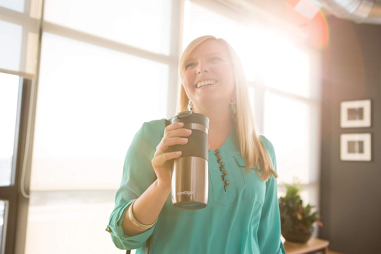 Contigo Byron Snapseal Mug de voyage en acier inoxydable Thermique bouteille sous vide 720 ml tasse /à caf/é avec couvercle facile /à nettoyer sans BPA gobelet anti-fuite