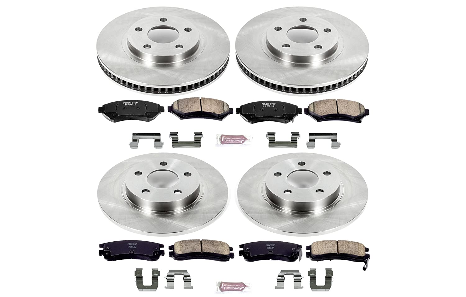 Autospecialty KOE1545 1-Click OE Replacement Brake Kit Power Stop