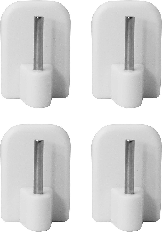 LIHAO 20X Curtain Hooks Adhesive Hook Self Adhesive Hooks White for Curtain Rod