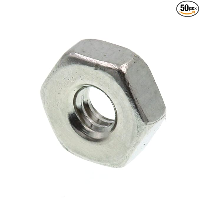 5//16 in.-18 Prime-Line 9073375 Finished Hex Nuts Grade 18-8 Stainless Steel 50-Pack