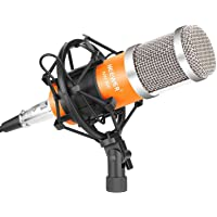 Neewer NW-800 Pro Cardioid Studio Condenser Microphone Set with Shock Mount (Orange/Silver)