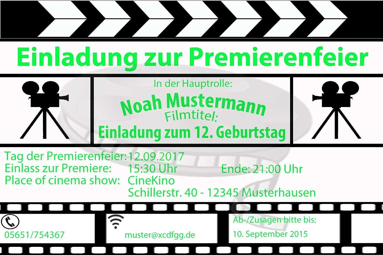 Kino Einladungskarten Kindergeburtstag Einladung   Inkl. Ihrer Daten Und  Texte   30 Stück: Amazon.de: Bürobedarf U0026 Schreibwaren