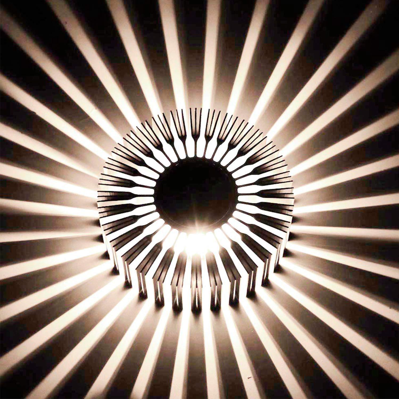 uksunvi LED Applique murale AC85-265V 3W Moderne aluminium lampe créative d'intérieur lumières pour la maison lumière d'économie d'énergie lumière spot led lampe décoration murale 3000 K (blanc chaud)