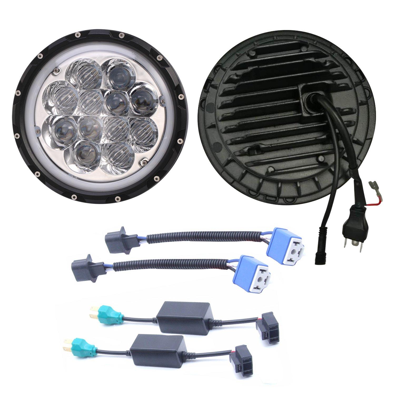 u-Box Jeep JK Headlight Bezel Trim Cover Matte Black Headlight Insert for 2007-2018 Jeep Wrangler /& Wrangler Unlimited