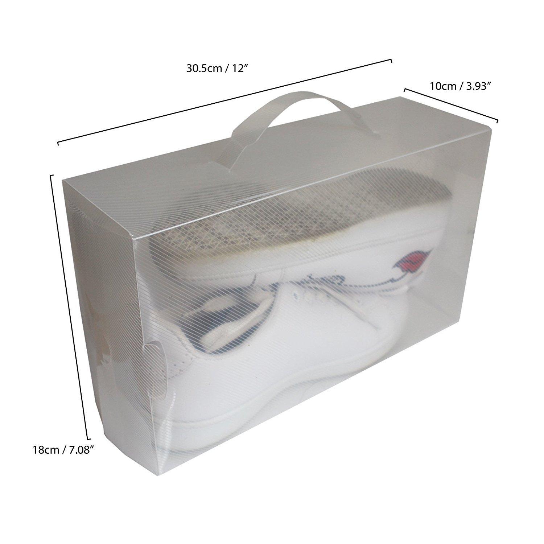 Lot de 10 par Bo tes à Chaussures en Plastique Transparent par 10 Kurty e4f11e