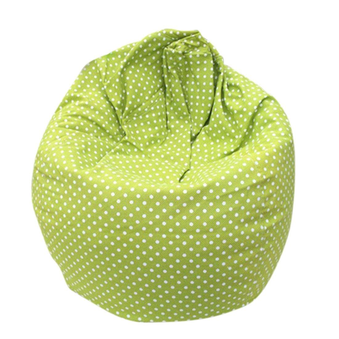 Qianle Fahsion Washable Single Sofa Cartoon Print Bean Bag Chair Leopard