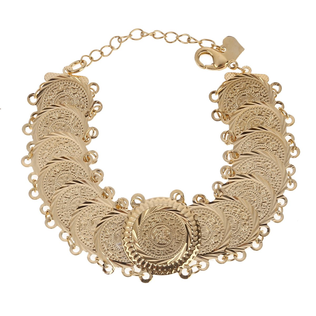 Arab Bracelet Gold Color Coins Bangle Islam Middle East Chain Jewelry Africa Gifts Ethiopian Gold Jewelry Br-001