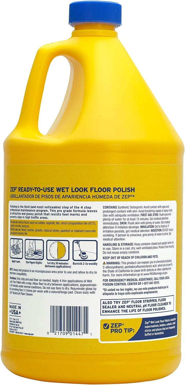 Amazon Com Zep Wet Look Floor Polish 128 Ounces Zuwlff128 Case Of 4 Long Lasting Shine Health Personal Care