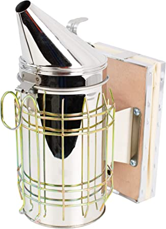 Bee Hive Smoker with Heat Shield Calming Beekeeping Equipment US A+++
