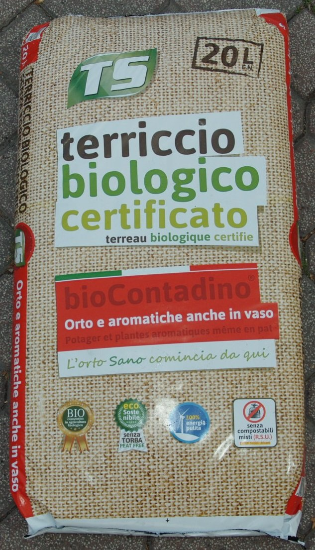 Certified Organic Soil for Vegetables and Herbs TURCO SILVESTRO