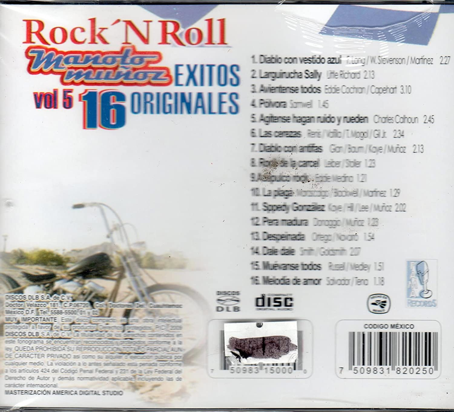 MANOLO MUNOZ - ROCK N ROLL 16 EXITOS ORIGINALES (MANOLO MUNOZ) - Amazon.com Music